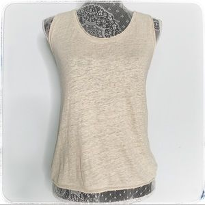 Theory relax linen tank. NWT. Size p